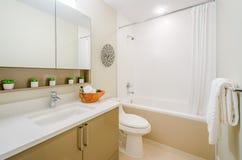 Interior design of a bathroom Stock Image