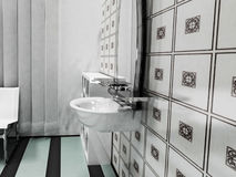 Interior design of bathroom Royalty Free Stock Photography