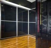 Interior design - bedroom. Master bedroom with huge wardrobe Royalty Free Stock Images