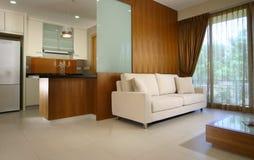 Interior design - bedroom. Master bedroom with sofa set Stock Photo