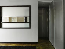 Interior design - bedroom. Master bedroom with walk in wardrobe Stock Image