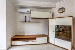 Interior design bianco dell'appartamento della foto di riserva Fotografia Stock Libera da Diritti