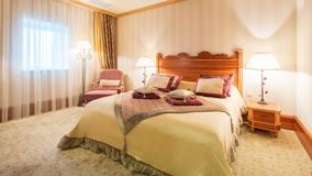 Interior design. Big modern Bedroom Royalty Free Stock Images