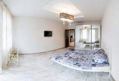 Interior design. Big modern Bedroom Stock Photos