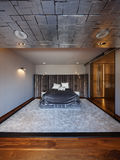 Interior design: Big modern Bedroom Royalty Free Stock Image