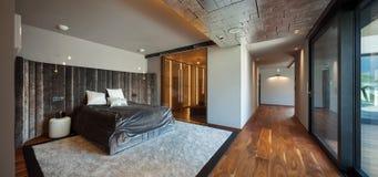 Interior design: Big modern Bedroom Stock Photos