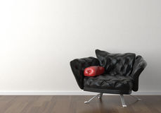 Interior design of black chair on Royalty Free Stock Images