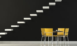 Interior design black wall Royalty Free Stock Images