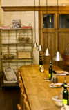 Interior design of charming bakery, brasserie royalty free stock photography