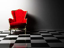 Interior design with a classic elegant armchair Stock Photography