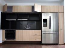 Interior design of clean modern kitchen. Royalty Free Stock Photo