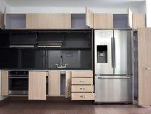 Interior design of clean modern kitchen. Stock Images