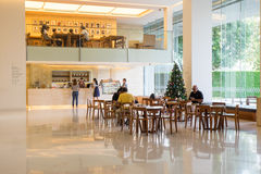 Interior design of coffee cafe in MOCA Museum on January 10, 2016. Bangkok, Thailand - January, 10: Coffee cafe in MOCA Museum on January 10, 2016. Museum of Royalty Free Stock Images