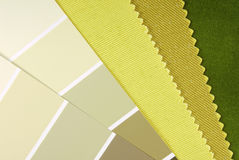 Interior design color choice Stock Photos