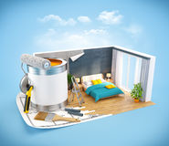 Interior design concept Stock Image