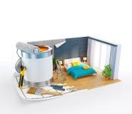 Interior design concept Stock Photography