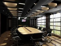 Interior Design, Conference Hall, Office, Ceiling Stock Photography