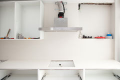 Interior design construction of a kitchen Royalty Free Stock Photo