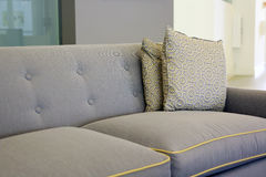 Interior design with couch and texture design cushions. Stock Images