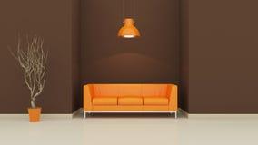 Interior design 3D Fotografie Stock Libere da Diritti