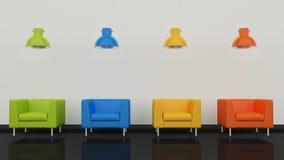 Interior design 3D Fotografia Stock Libera da Diritti