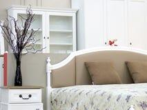 Interior design d'annata della camera da letto Fotografia Stock