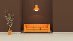 Interior design 3D Royalty Free Stock Photos
