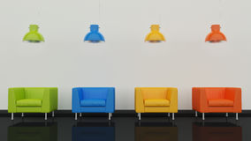 Interior design 3D Royalty Free Stock Photography