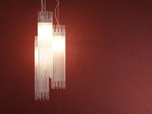 Interior design deatil of tubular lamp royalty free stock photography