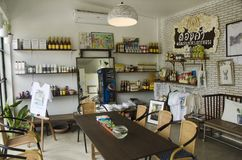 Interior design and decoration of coffeeshop and restaurant stock photo