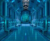 Interior design del corridoio di fantascienza illustrazione di stock
