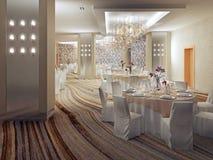 Interior design del ristorante Fotografie Stock