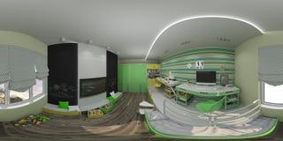 interior design dell'illustrazione 3d del ` s dei bambini Immagini Stock Libere da Diritti