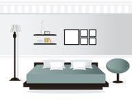 Interior design della camera da letto Illustrazione Vettoriale