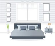 Interior design della camera da letto Fotografie Stock