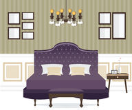 Interior design della camera da letto Immagini Stock