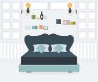 Interior design della camera da letto Royalty Illustrazione gratis