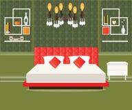 Interior design della camera da letto Fotografie Stock Libere da Diritti