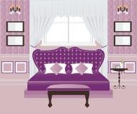 Interior design della camera da letto Illustrazione di Stock