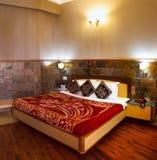 Interior design della casa della stanza del letto Fotografia Stock Libera da Diritti