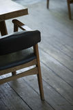 Interior design detail of retro wood furniture Royalty Free Stock Photo