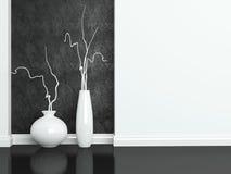 Interior design, detail shot. Detail shot of modern black and white living room furniture. Interior design Stock Images