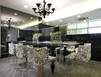Interior design - dining. Dining area with pendent light Royalty Free Stock Photos