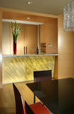 Interior design - dining. Dining area with bar counter Royalty Free Stock Photography