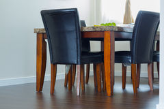 Interior design of dining room Stock Images