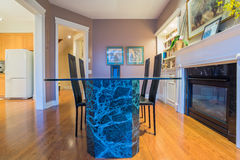 Interior design of dining room Royalty Free Stock Photos