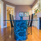 Interior design of dining room stock photo