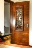 Interior design - door panel. Door panels with oriental profiles Royalty Free Stock Photo