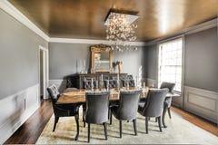 Dining Room luxury Stock Photography