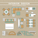 Interior Design Layout & Tools Stock Photography